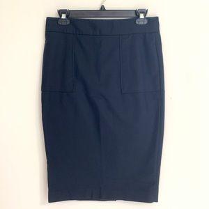 Zara basic navy pencil skirt size medium